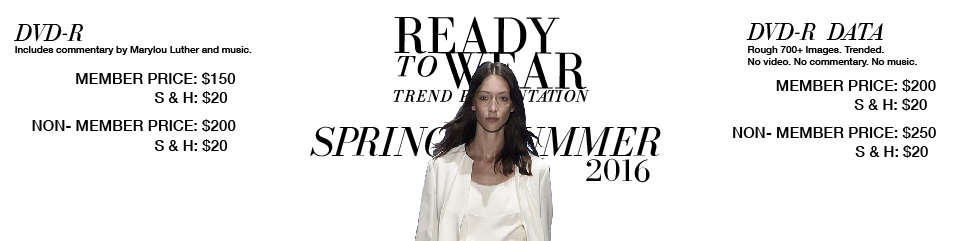 Ready to Wear- Trend Presentation